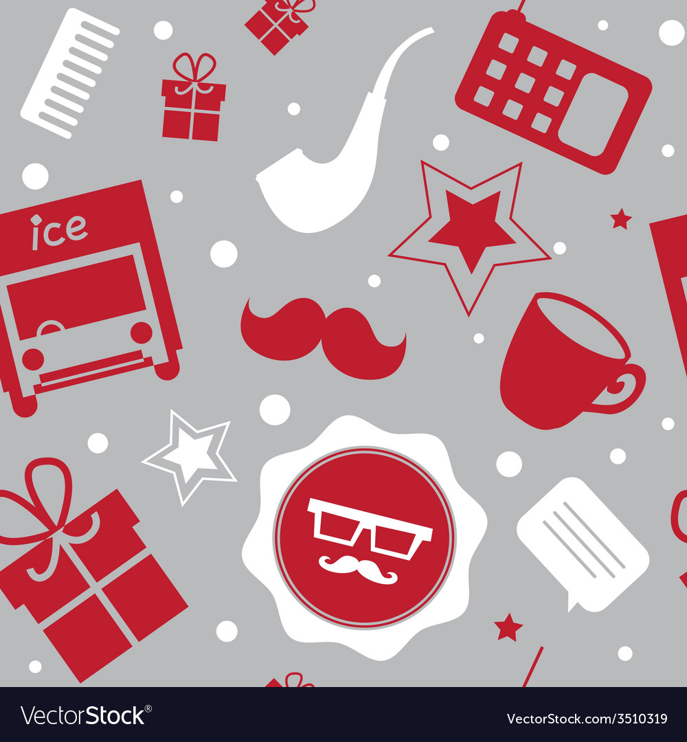 Holiday patternwith santa stuff vector | Price: 1 Credit (USD $1)