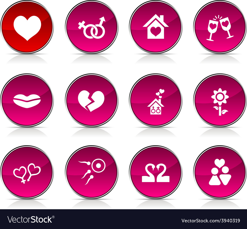 Love icons vector   Price: 1 Credit (USD $1)