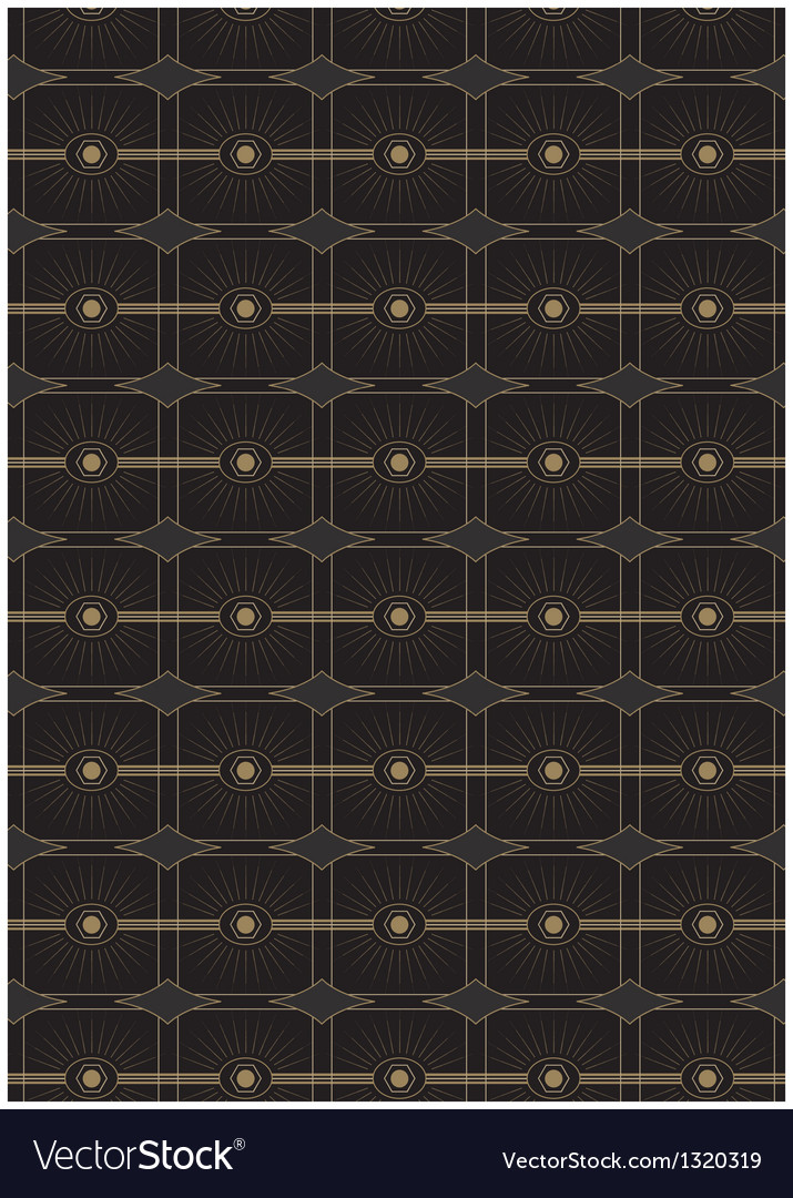Seamless art deco style pattern vector | Price: 1 Credit (USD $1)