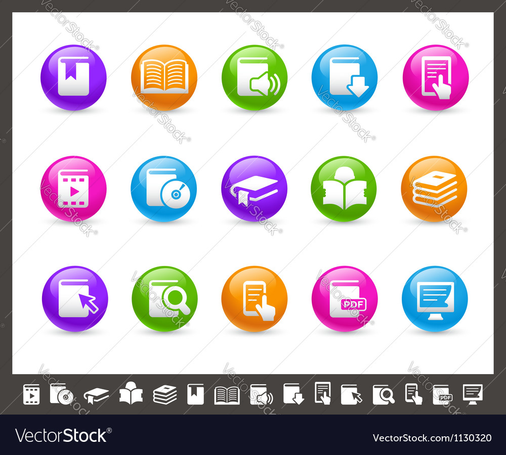 Book icons rainbow series vector | Price: 1 Credit (USD $1)