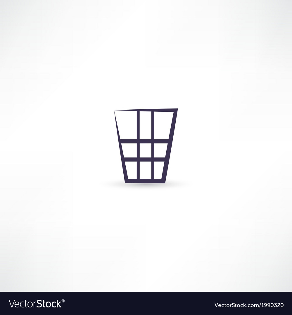 Dustbin icon vector | Price: 1 Credit (USD $1)
