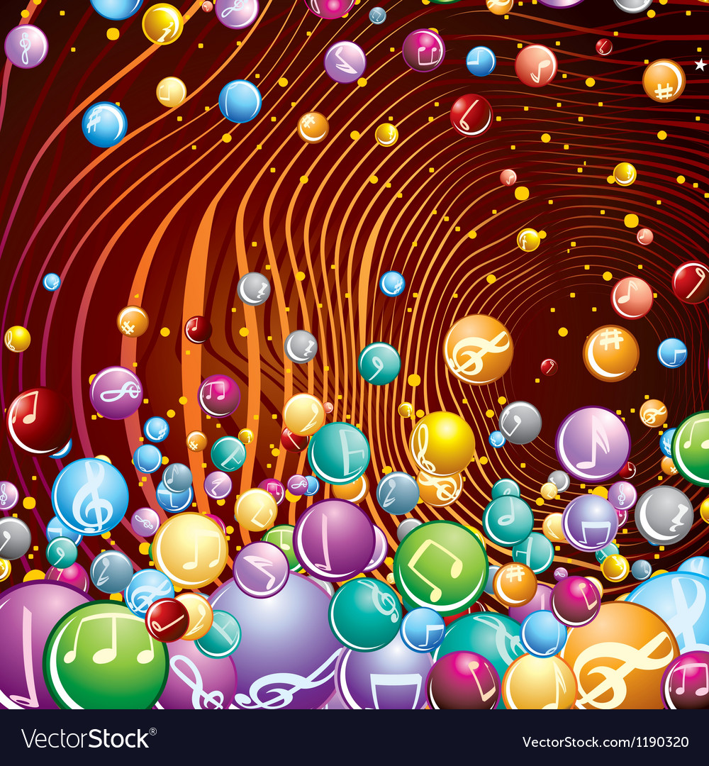 Funky musical background image vector | Price: 1 Credit (USD $1)