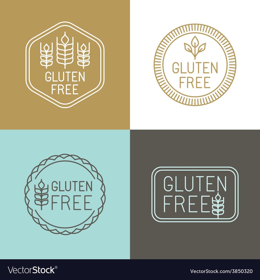 Gluten free badges vector | Price: 1 Credit (USD $1)