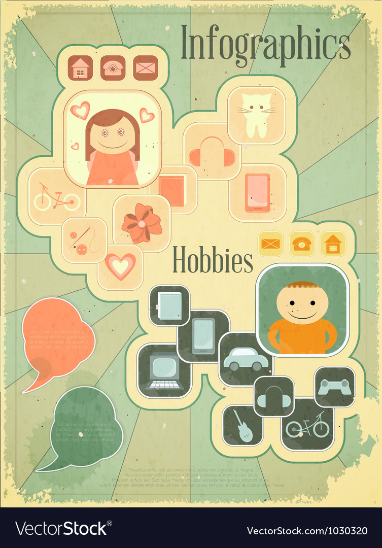 Hobbies graph vector | Price: 1 Credit (USD $1)