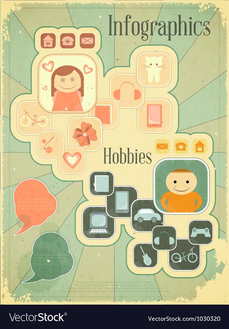 Hobbies graph vector | Price: 1 Credit (USD $1)