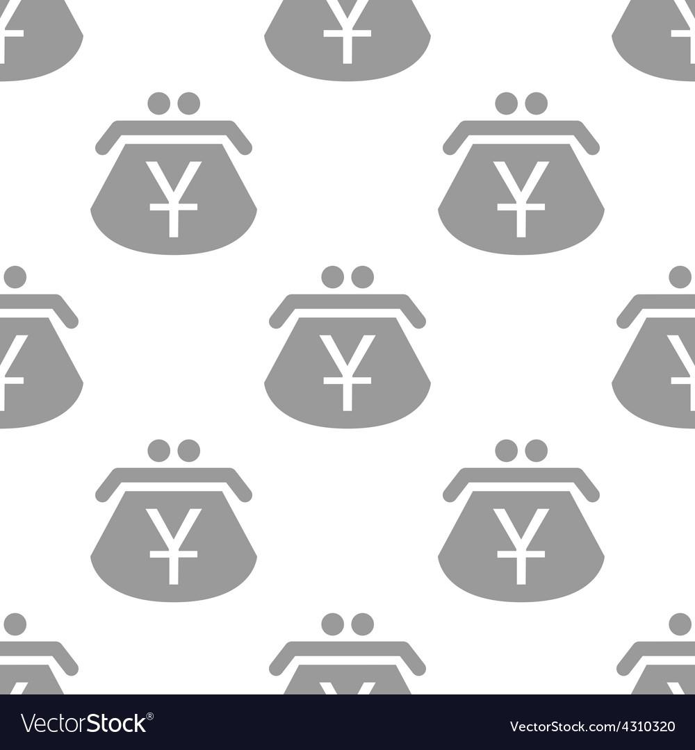 New yen purse seamless pattern vector | Price: 1 Credit (USD $1)