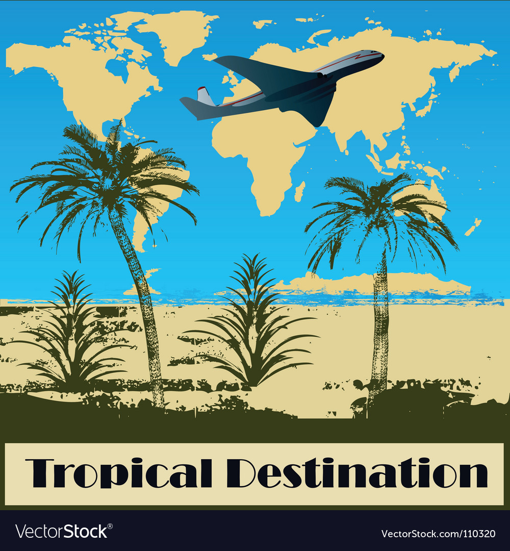 Tropical destination vector | Price: 1 Credit (USD $1)