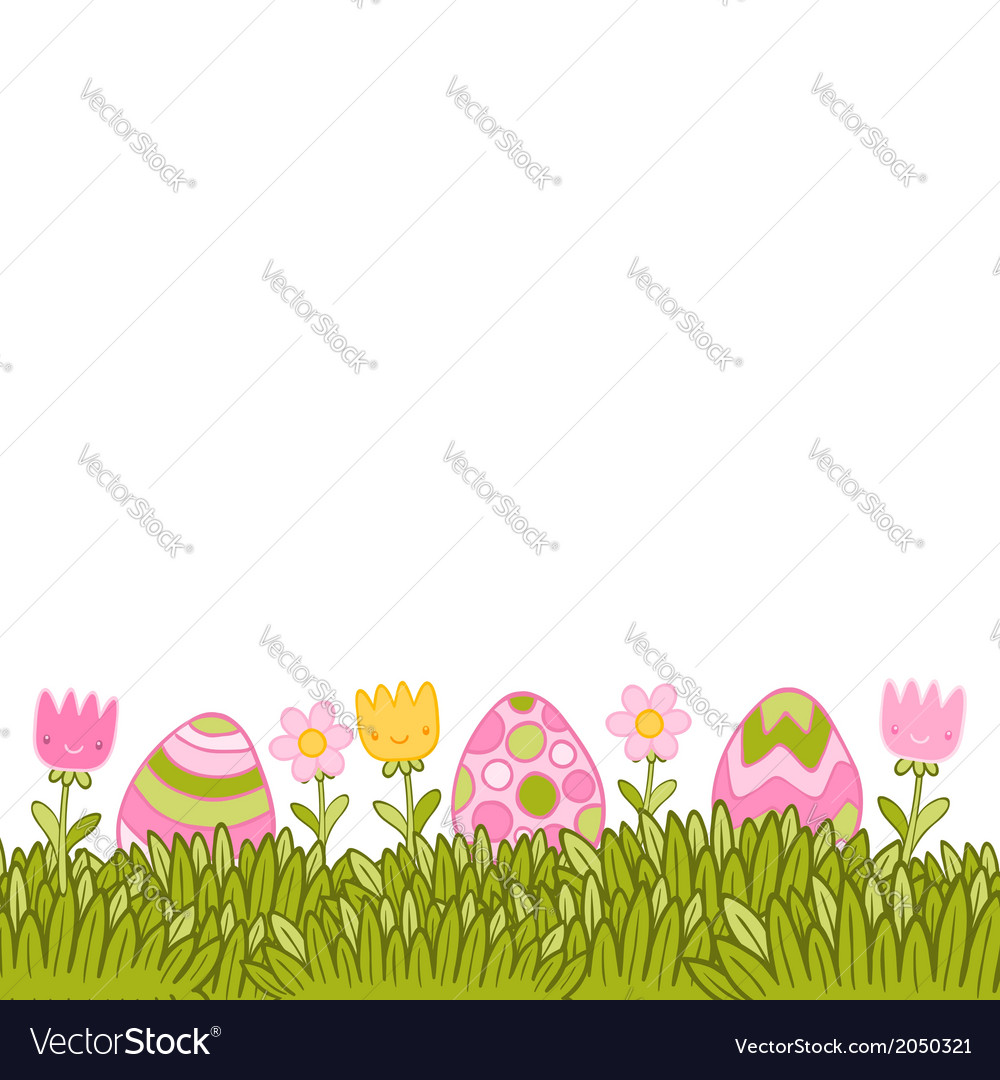 Beautiful easter background with easter eggs in vector | Price: 1 Credit (USD $1)