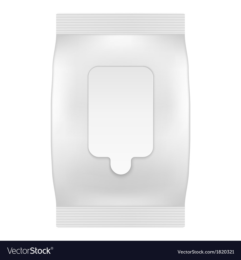 Blank white package with flap for wet wipes or vector | Price: 1 Credit (USD $1)