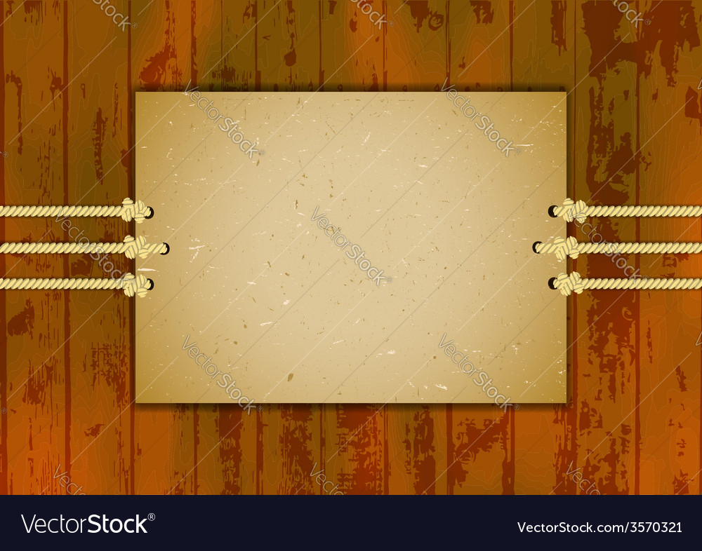 Cardboard frame on three ropes vector | Price: 1 Credit (USD $1)