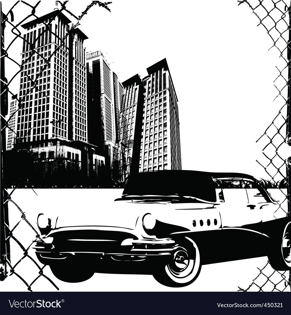 City and sport car vector | Price: 1 Credit (USD $1)