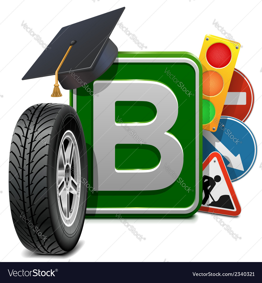 Driving school concept vector | Price: 1 Credit (USD $1)