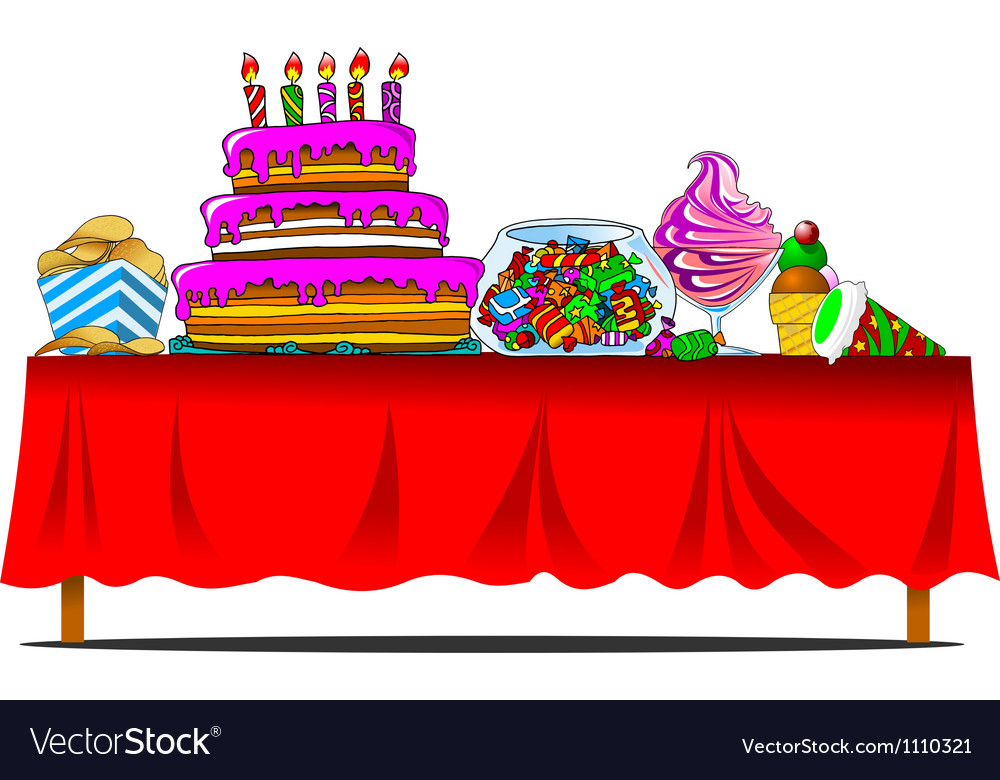 Holiday table vector | Price: 1 Credit (USD $1)