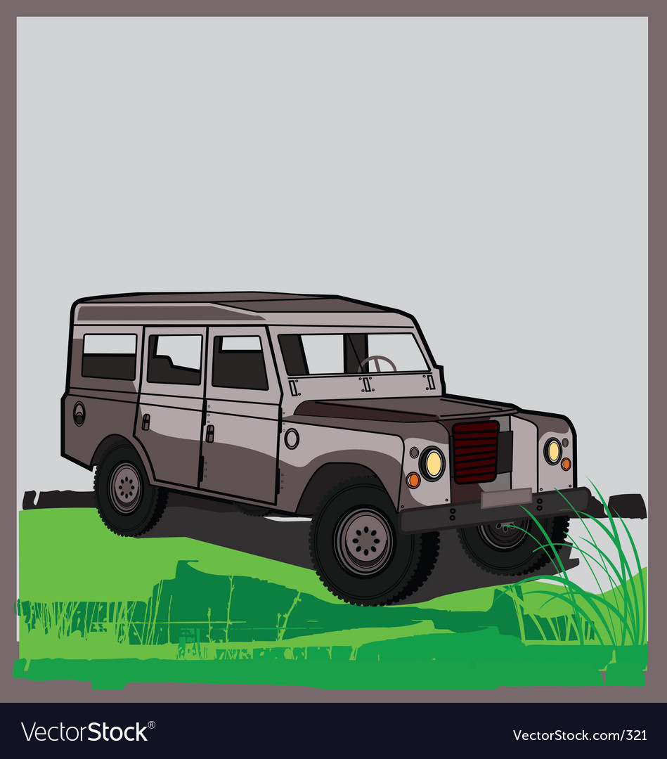 Land rover vector | Price: 1 Credit (USD $1)