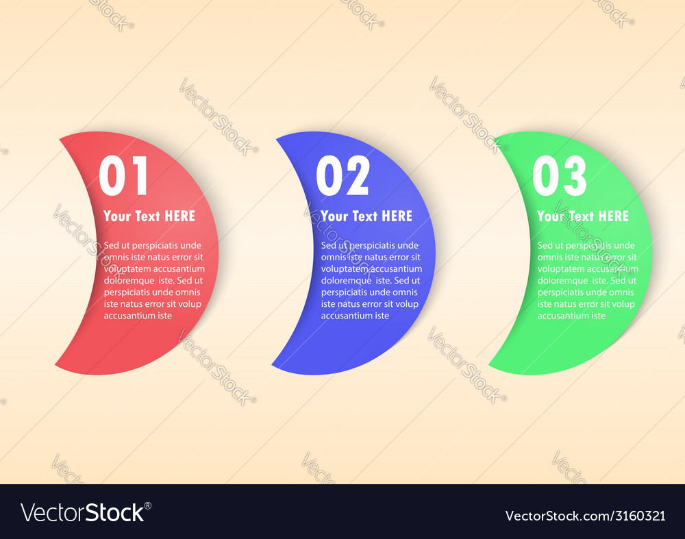 Minimal infographic template background vector | Price: 1 Credit (USD $1)
