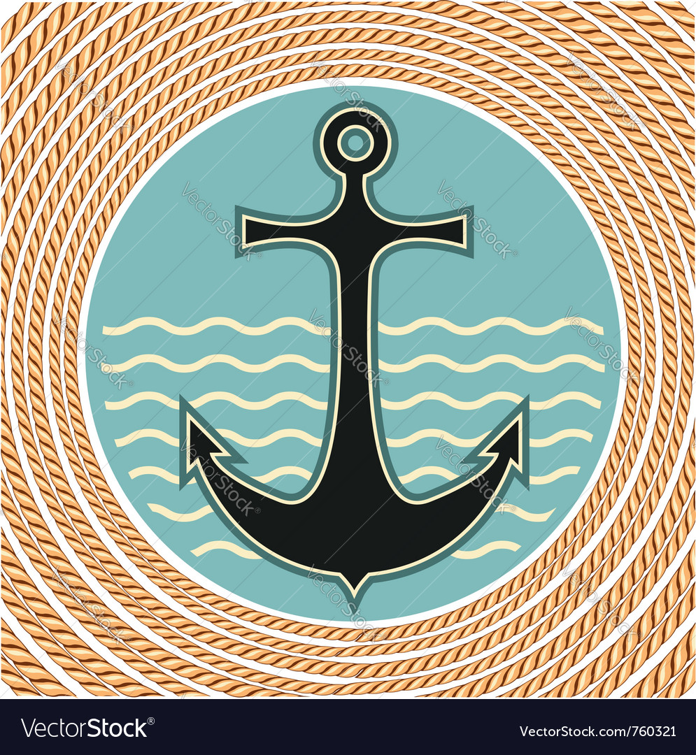 Nautical anchor symbol vector | Price: 1 Credit (USD $1)