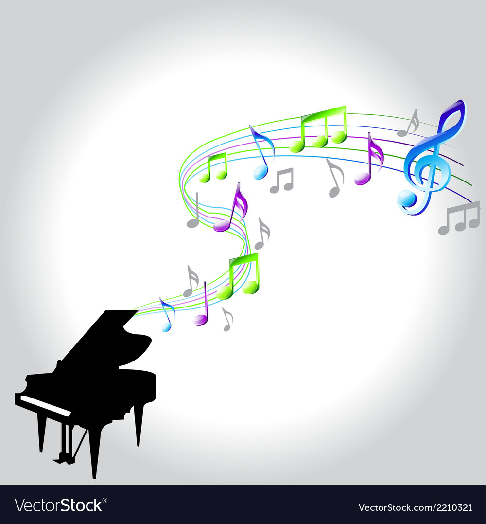 Note piano vector | Price: 1 Credit (USD $1)