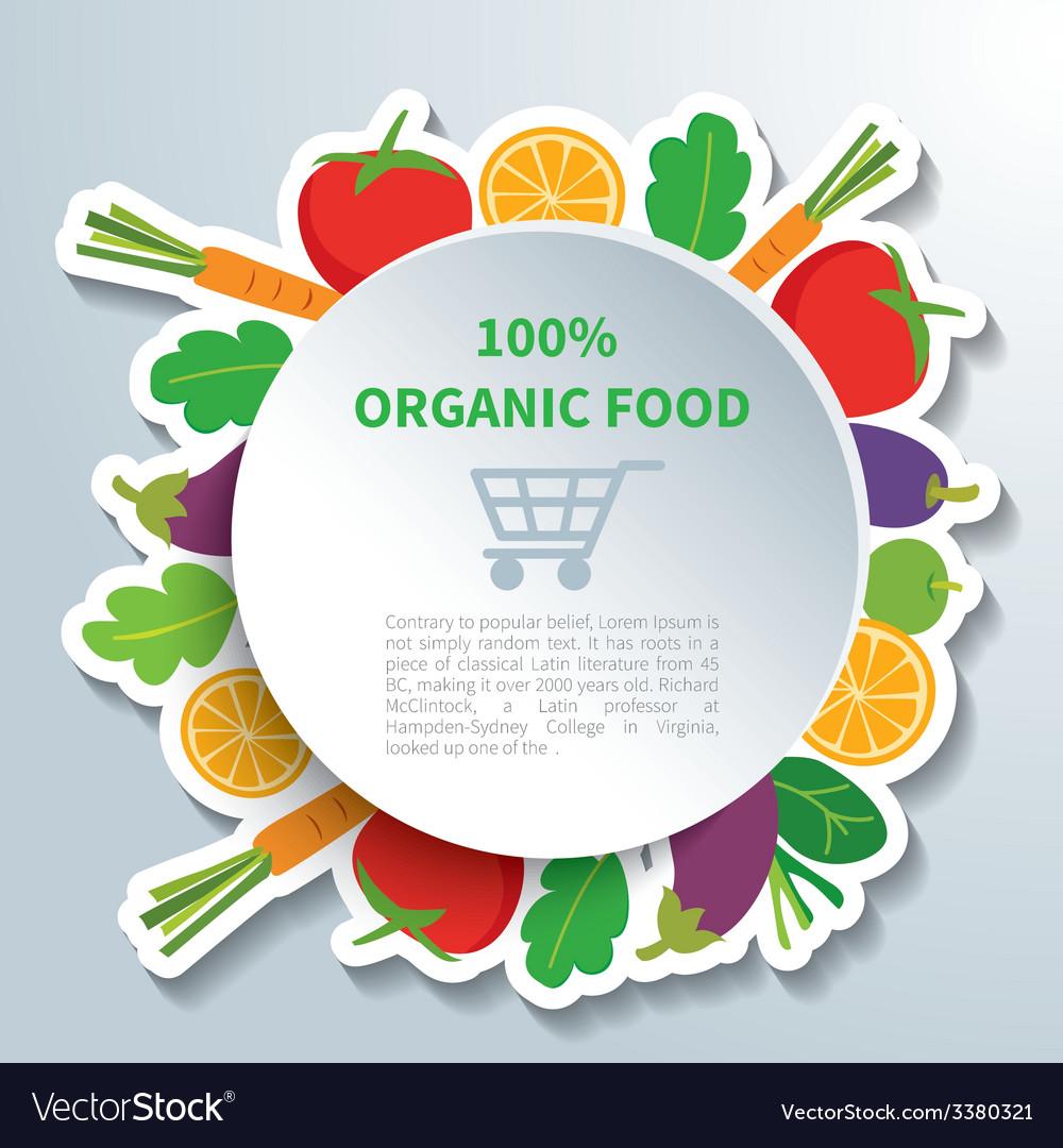 Organic food vector | Price: 3 Credit (USD $3)
