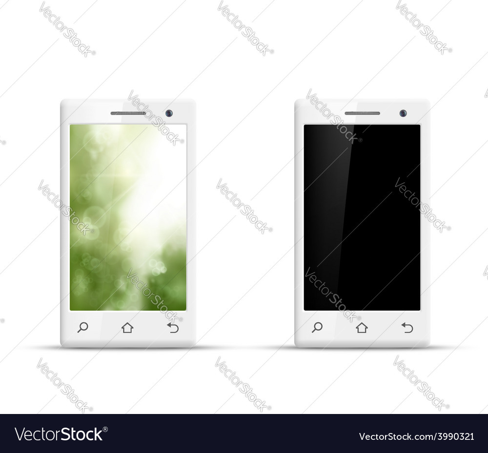 Realistic smartphone isolated on white background vector | Price: 1 Credit (USD $1)
