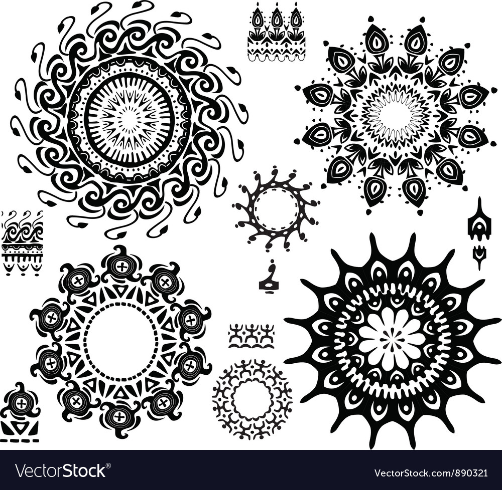 Set of ornamental pattern vector | Price: 1 Credit (USD $1)