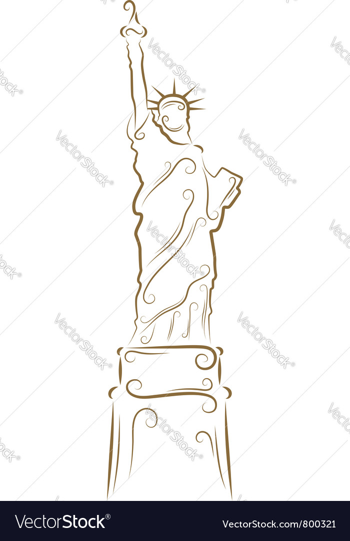 Statue of liberty sketch vector | Price: 1 Credit (USD $1)