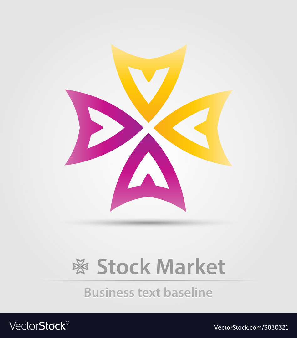 Stock market business icon vector | Price: 1 Credit (USD $1)