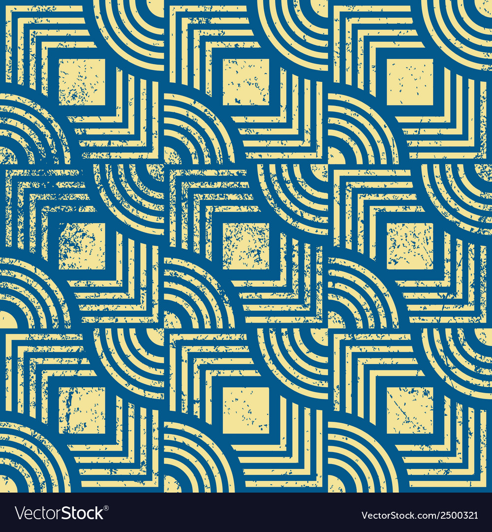 Vintage geometric seamless background old repeat vector | Price: 1 Credit (USD $1)