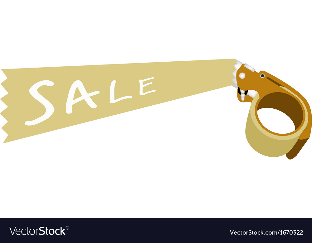 Adhesive tape dispenser with a word sale vector | Price: 1 Credit (USD $1)