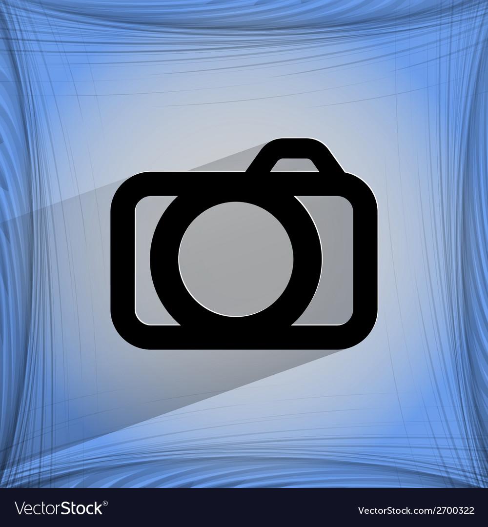 Camera flat modern web design on a flat geometric vector   Price: 1 Credit (USD $1)