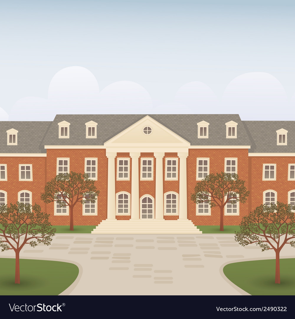 College vector | Price: 1 Credit (USD $1)