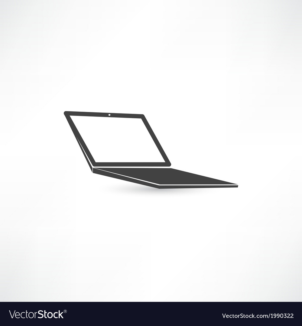 Computer notebook icon vector | Price: 1 Credit (USD $1)