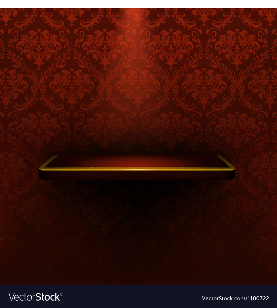 Empty shelf red luxury vector | Price: 1 Credit (USD $1)