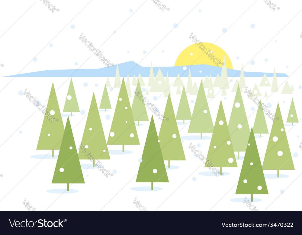 Forest landscape vector | Price: 1 Credit (USD $1)