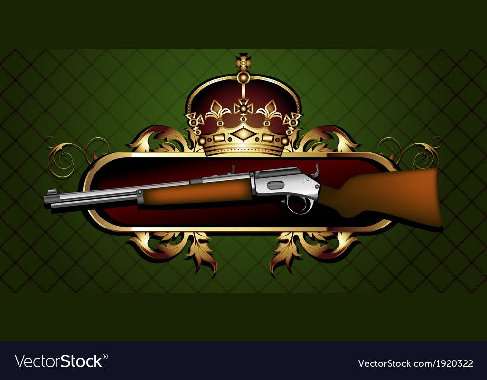 Guns with decorative elements vector | Price: 1 Credit (USD $1)