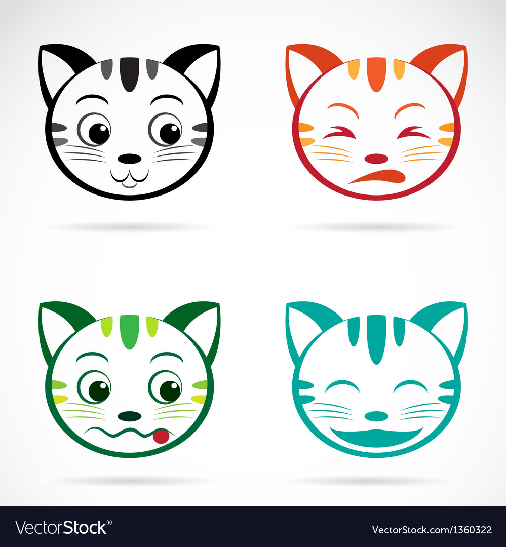 Image of an cat face vector | Price: 1 Credit (USD $1)