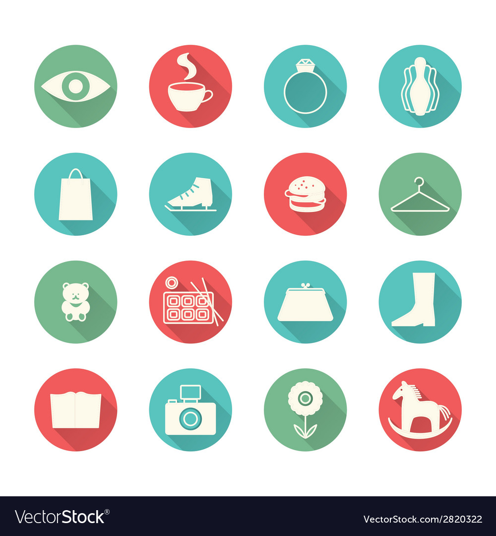 Mall icons vector | Price: 1 Credit (USD $1)