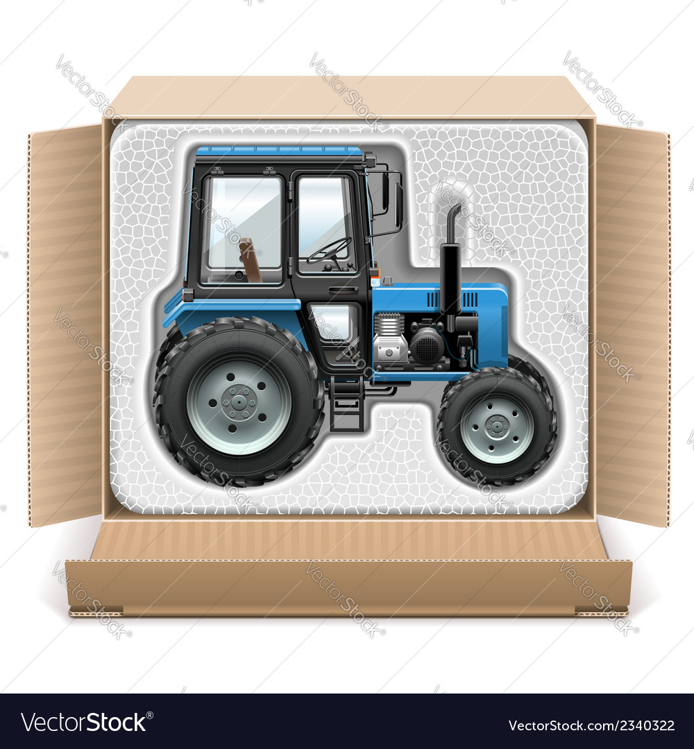 Toy tractor in box vector | Price: 1 Credit (USD $1)