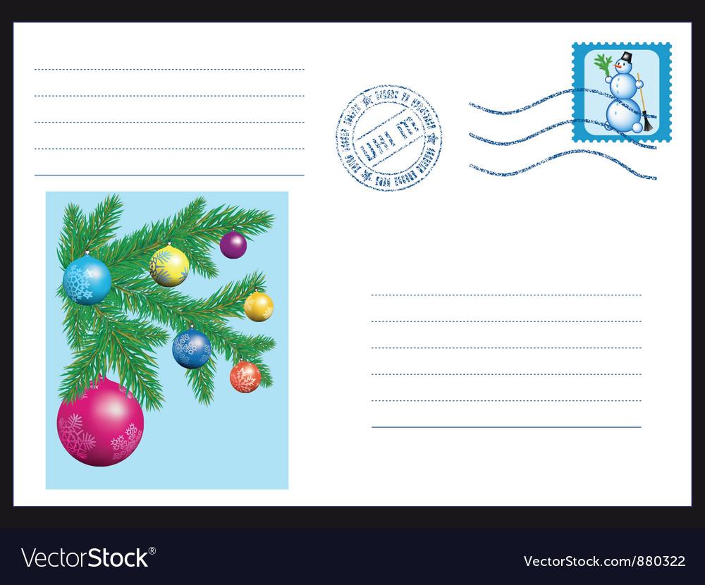 Winter envelope vector | Price: 1 Credit (USD $1)