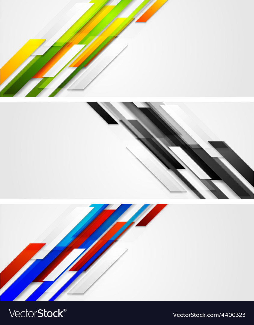 Abstract banners with geometric shapes vector   Price: 1 Credit (USD $1)