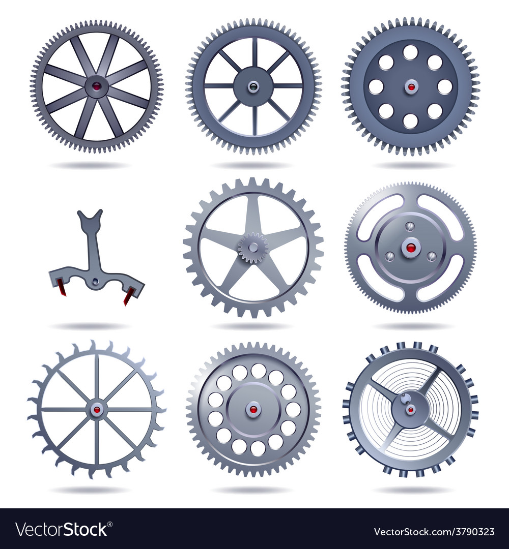Collection machine gear vector | Price: 1 Credit (USD $1)