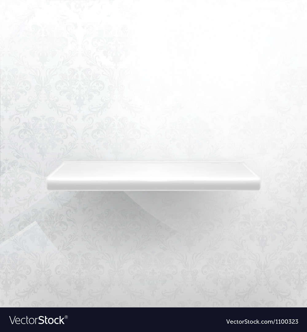 Empty shelf white luxury vector | Price: 1 Credit (USD $1)