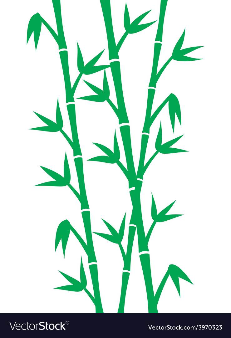Green bamboo stems vector | Price: 1 Credit (USD $1)
