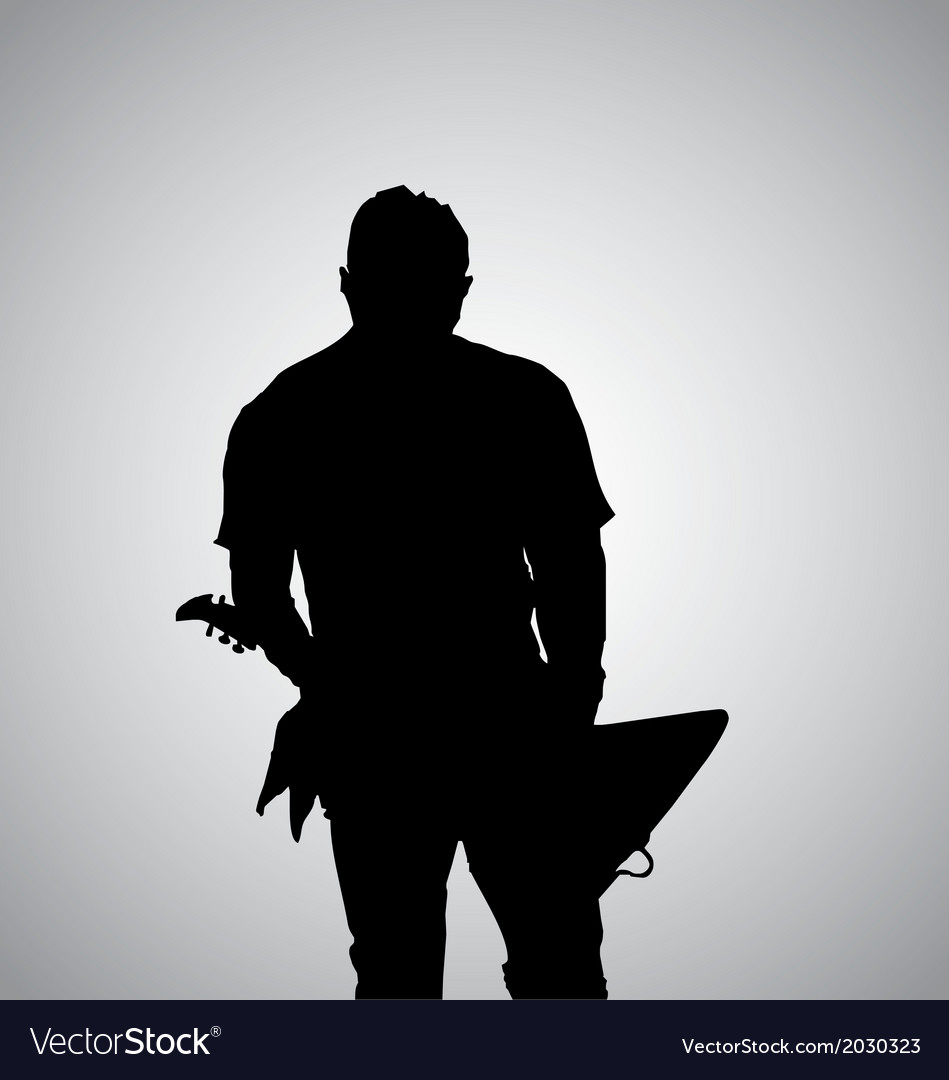 Guitarist silhouette vector | Price: 1 Credit (USD $1)