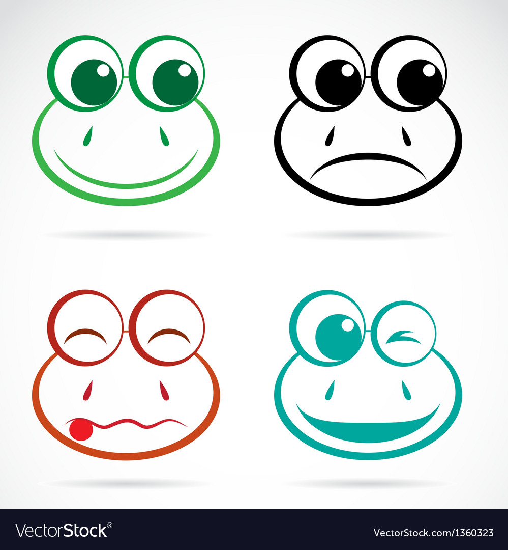 Image of an frog face vector | Price: 1 Credit (USD $1)