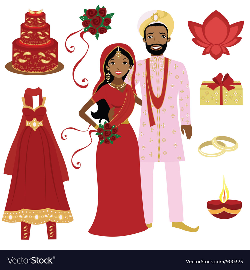 Indian wedding set vector | Price: 3 Credit (USD $3)