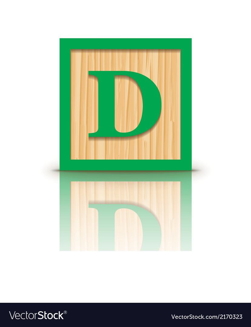 Letter d wooden alphabet block vector | Price: 1 Credit (USD $1)