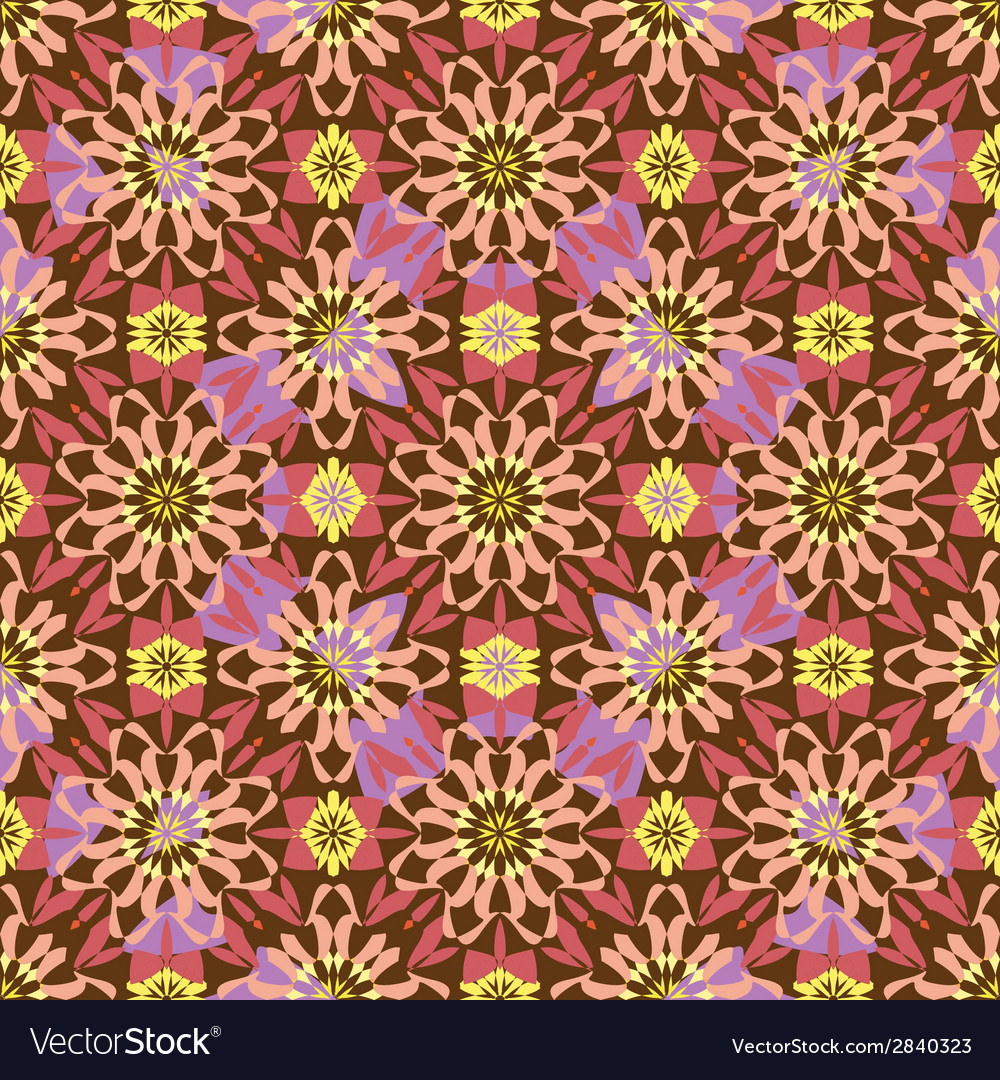 Seamless background oriental ornament kaleidoscope vector | Price: 1 Credit (USD $1)