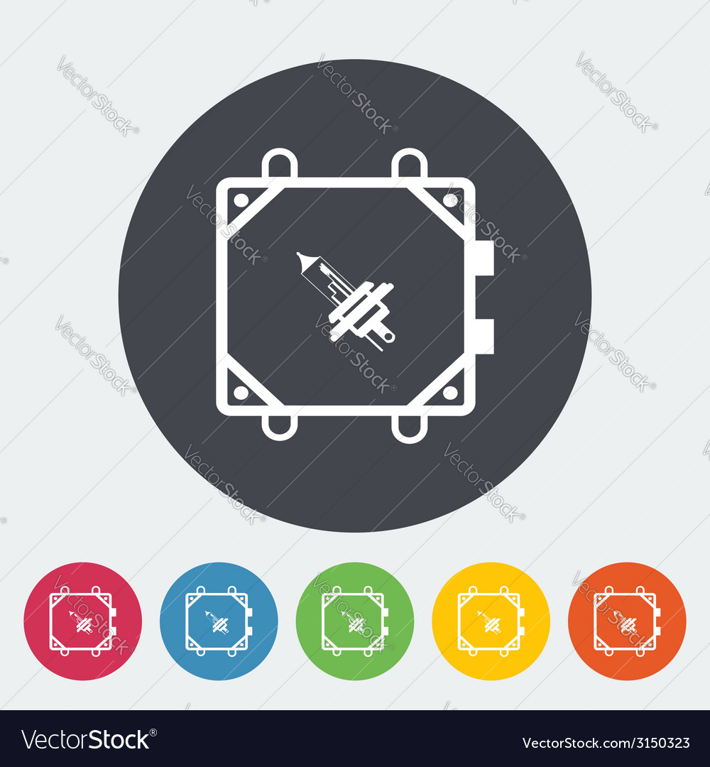 Xenon car lamp flat icon vector | Price: 1 Credit (USD $1)