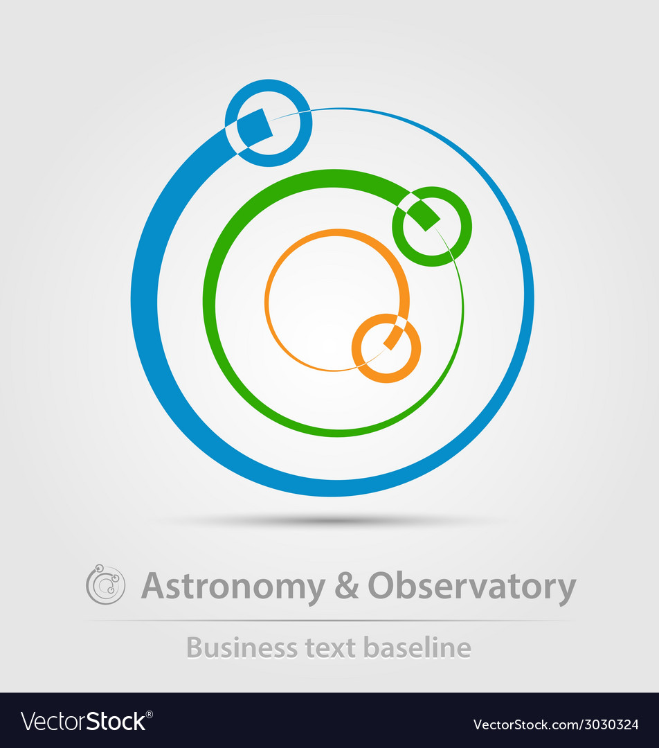 Astronomy and observatory business icon vector | Price: 1 Credit (USD $1)
