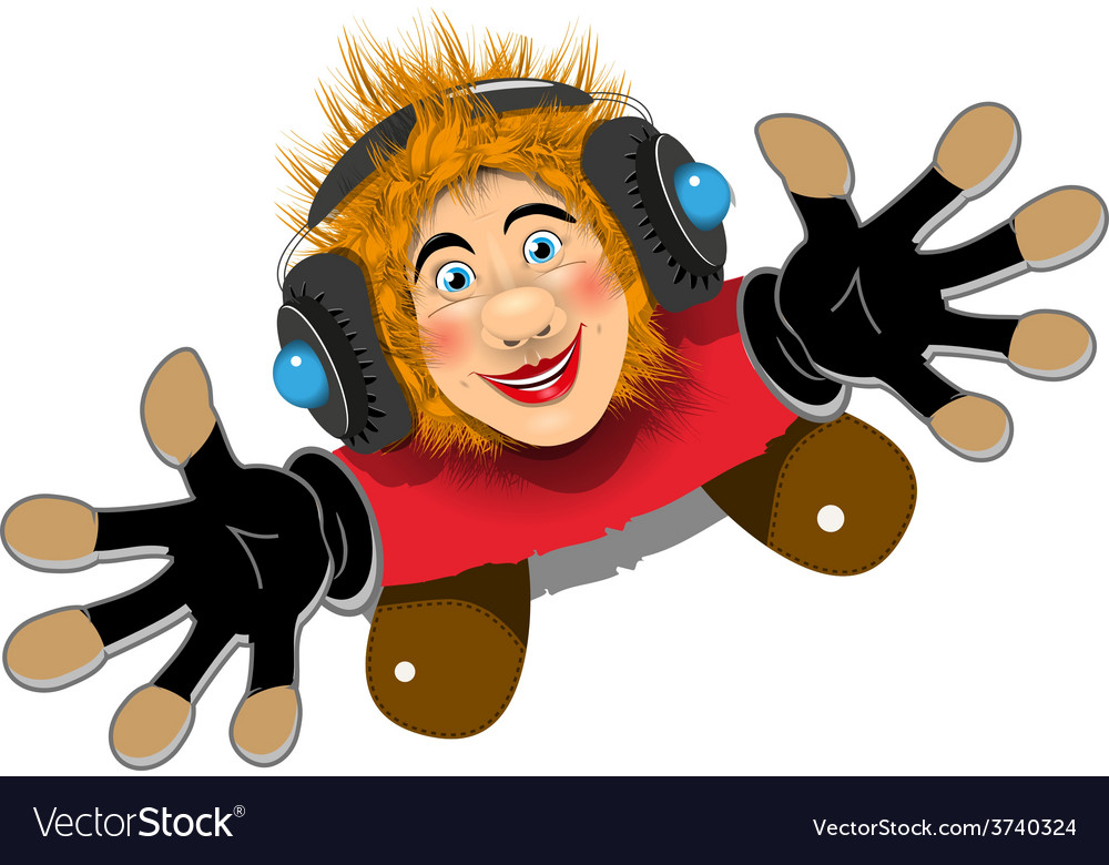 Cheerful redhaired dj vector | Price: 3 Credit (USD $3)